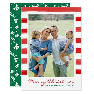 Modern Merry Christmas Family Photo Holiday Card