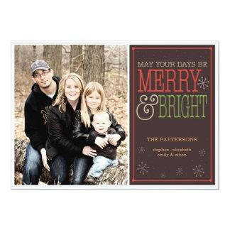 Modern Merry Christmas Happy New Year Photo Card