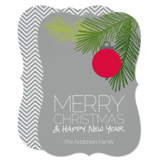 Modern Merry Christmas Ornaments - Non-photo Card