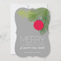 Modern Merry Christmas Ornaments - Non-photo Holiday Card