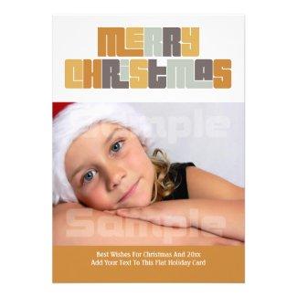 Modern Merry Christmas Photo Frame Announcements