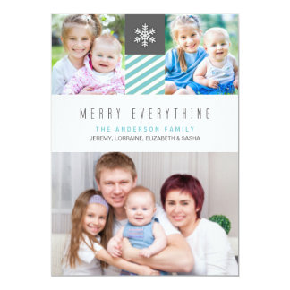 Modern Merry Everything Holiday Photo Cards