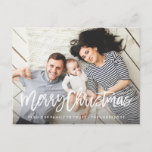 """Modern Merry Holiday Photo Card<br><div class=""""desc"""">Celebrate the season with a customized holiday photo card!  This seasonal photo card design features a full bleed image with a brushed hand lettered font overlay.</div>"""