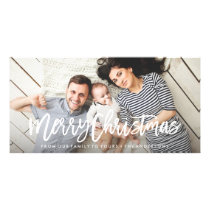 Modern Merry Holiday Photo Card