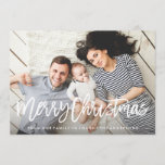"Modern Merry Holiday Photo Card<br><div class=""desc"">Send holiday cheer with a custom photo card!