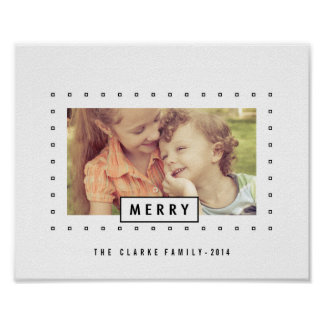 Modern Merry Holiday Photo Poster