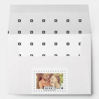 Modern Merry   Holiday Photo Printed Envelope