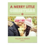 "Modern Merry Little Christmas Flat Card 5"" X 7"" Invitation Card"