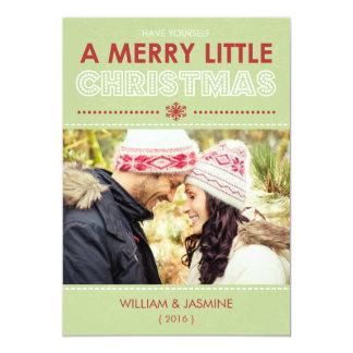 Modern Merry Little Christmas Flat Card