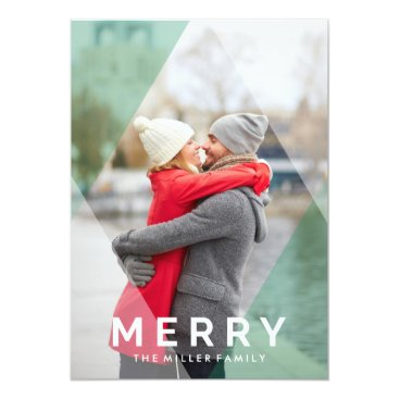 Christmas Themed Modern Merry Overlay | Holiday Photo Card