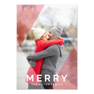 Modern Merry Overlay | Holiday Photo Card