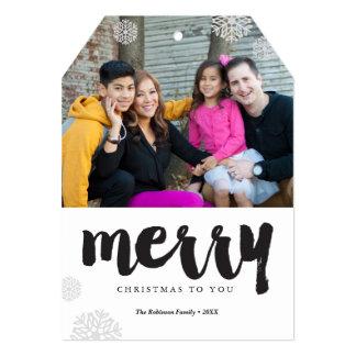 Modern Merry Snowflakes Card