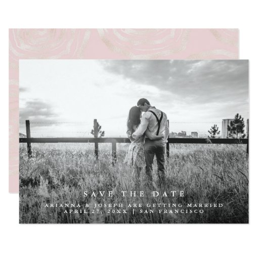 Modern Message Save the Date Photo Invitation