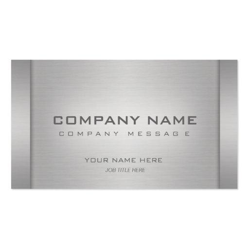 Modern Metal Business Cards
