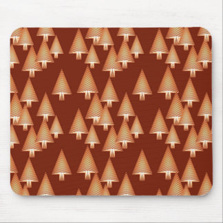 Modern metallic Christmas trees - copper Mouse Pad
