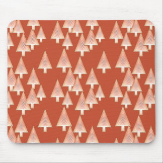 Modern metallic Christmas trees - copper & rust Mouse Pad
