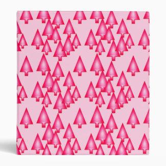 Modern metallic Christmas trees - fuchsia pink Binder