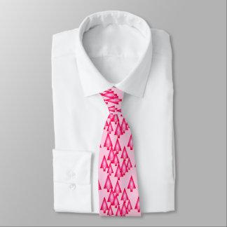 Modern metallic Christmas trees - fuchsia pink Neck Tie