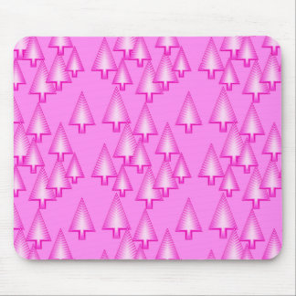Modern metallic Christmas trees - orchid pink Mouse Pad