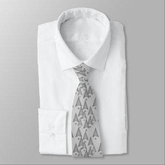 Modern metallic Christmas trees - silver grey Tie