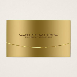 Modern Metallic Gold Design Stainless Steel Look Business Card