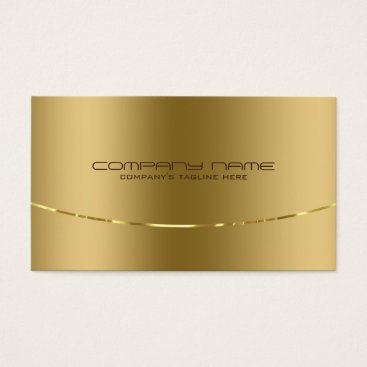 artOnWear Modern Metallic Gold Design Stainless Steel Look Business Card