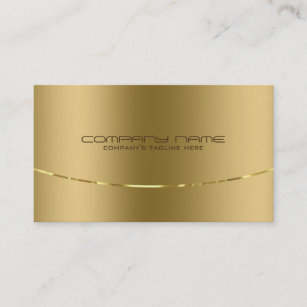 Metallic business cards zazzle modern metallic gold design stainless steel look business card colourmoves