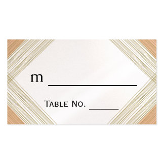 Modern Metallic Gold Hatch Wedding Place Cards Double-Sided Standard Business Cards (Pack Of 100)