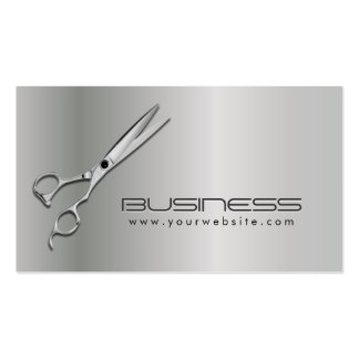 Modern Metallic Hair Salon Appointment Double-Sided Standard Business Cards (Pack Of 100)
