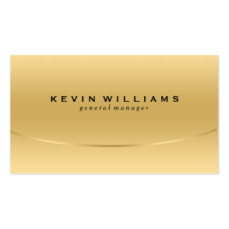 Modern Metallic Light Gold Texture Background Business Card