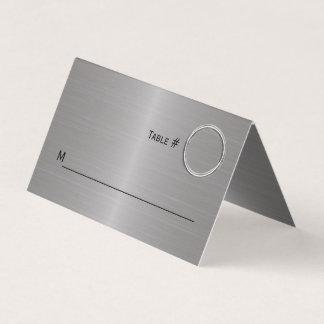 Modern Metallic Look Folded Place Card