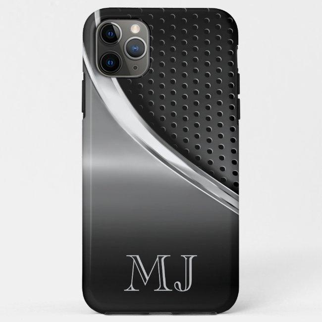 Modern Metallic Look Monogrammed Case-Mate iPhone Case