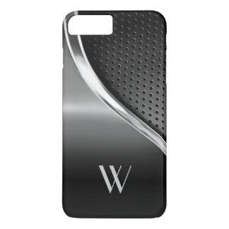 Modern Metallic Look Monogrammed iPhone 7 Plus Case