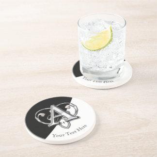 Modern Metallic Monogram (A) Beverage Coasters