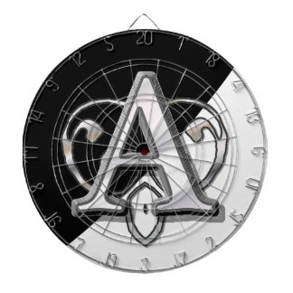 Modern Metallic Monogram (A) Dart Boards