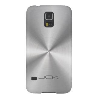 Modern Metallic Silver-Gray Stainless Steel Look Galaxy S5 Case