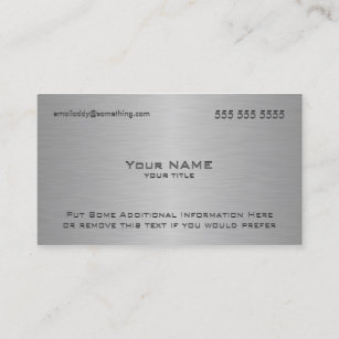Ceo business cards templates zazzle modern metallic texture print business card colourmoves