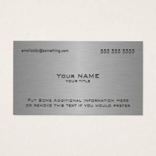 Ceo business cards templates zazzle modern metallic texture print business card colourmoves