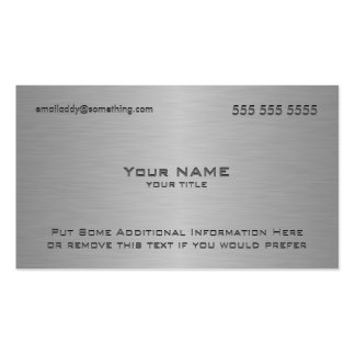 Modern Metallic Texture Print Double-Sided Standard Business Cards (Pack Of 100)