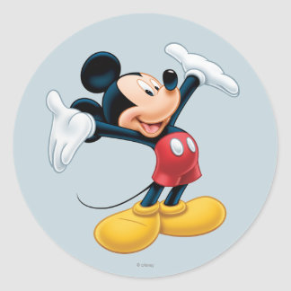 Modern Mickey | Airbrushed Classic Round Sticker