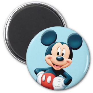 Modern Mickey | Hands on Hips 2 Inch Round Magnet