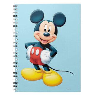 Modern Mickey | Hands on Hips Spiral Notebook