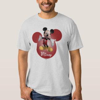 Modern Mickey | Red Head Background T Shirt