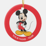 Modern Mickey | Side Hands on Hips Ceramic Ornament