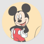 Modern Mickey | Side Hands on Hips Classic Round Sticker