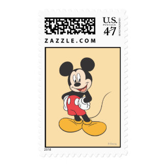 Modern Mickey | Side Hands on Hips Postage Stamp