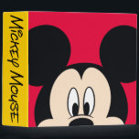 "Modern Mickey | Smiling Head 3 Ring Binder<br><div class=""desc"">Mickey</div>"