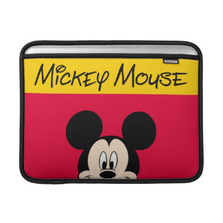 Modern Mickey | Smiling Head MacBook Air Sleeve