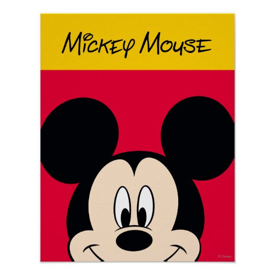Modern Mickey   Smiling Head Poster