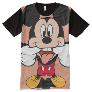 Modern Mickey | Sticking Out Tongue All-Over-Print T-Shirt